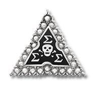 Sigma Sigma Sigma badge. #sororityhistory #sororitybadge #trisigma #sigmasigmasigma