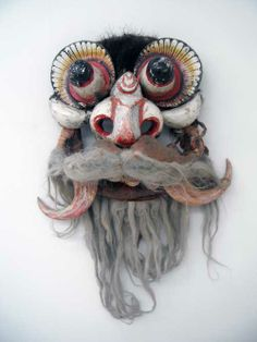 Photos (hence glass reflections) from the great Hahoe Mask Museum in South Korea.