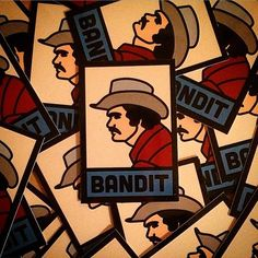 Bandit stickers. Fresh off the Press® by @tothemoonstudios #smoky