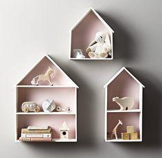 Petite House Shelving - Petal
