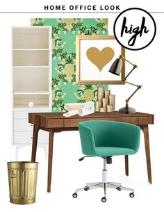 High & Low: One Fresh Home Office Look, Two Budgets | Apartment Therapy
