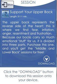 Upper back mediation.