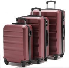 VIHEEVA Anti-scratch Hardside Spinner Luggage Set The Vihevaa brand three-piece upright luggage set has an anti-scratch surface, is lightweight and sturdy, and has the solid single spinner wheels. Your color options include the Bordeaux,.