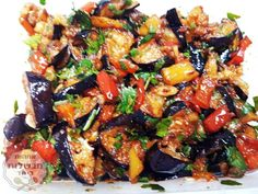Eggplant Salad in Marinade Mothers cook together Vegetarian Recipes, Cooking Recipes, Healthy Recipes, Special Salad Recipe, Dinner Suggestions, Veggie Patties, Eggplant Salad, Eggplant Recipes, Cooking Gadgets