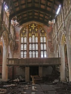 Sanctuary,  City Methodist Church  Gary, IN by Equinox27, via Flickr