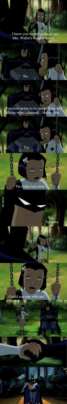 One of the reasons why Batman is the best!! Oh we're married btw so all of u back off