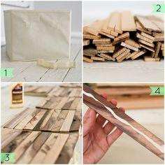 Un estupendo DIY para darle un aire nuevo a nuestras cajas y cestas | Decoración
