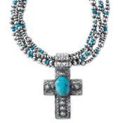 Cross & Beads Necklace