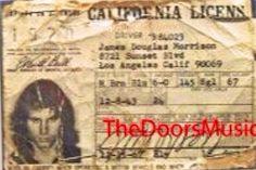Jim Morrison, actual driver's license #jimmorrison #jimmorrisondriverlicense #thedoors