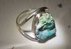 Vintage Turquoise Sterling Silver Ring Sleeping by LakeBreezes, $27.00
