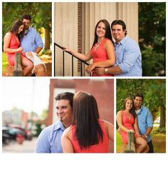 Amber + Bryan Engagement Photos Oxford NC Photographer - amy matthews photography