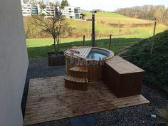 David, Beromünster, Schweiz - Hot Pot, Hot Tub Backyard, Garden Landscaping, Landscaping Ideas, Landscape Plans, Jacuzzi, Garden Planning, Hot Tubs, Patio