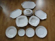 + Edles Speisesevice mit Goldrand Rosenthal Porzellan +für 10 Personen+ 46 Teile