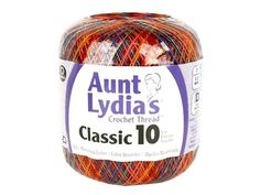 Aunt Lydia's Classic Cotton Crochet Thread is ideal for tablecloths, bed spreads, home decor, apparel, and more. Recommended for crochet hooks size 6, 7, 8, B-1 and knitting needles size 0-1(US). Care: machine wash on the gentle cycle with warm water, remove promptly, roll in towel, and block. 100% mercerized cotton. 3 ply. Size 10, bedspread weight. 300 yards. Passionata. Crochet Thread Size 10, Crochet Hook Sizes, Crochet Hooks, How To Make Curtains, Cotton Crochet, Needles Sizes, Cotton Thread, Knitting Needles, Aunt