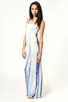 Abigail Tie Dye Scoop Neck Maxi Dress