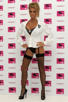 And when she mistook stockings and suspenders for trousers. | The Most WTF Photos Of Katie Price In Existence