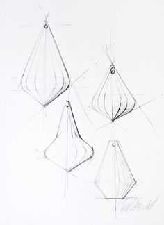 Thomas Feichtner. sketch One Crystal Chandelier