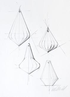 Thomas Feichtner. sketch One Crystal Chandelier