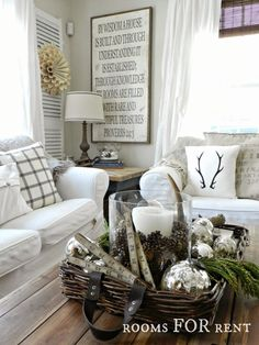 Stunning Christmas Country Home Tour 14 décor good for cottage or cabin as well ♥