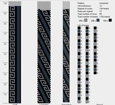 12 around bead crochet rope pattern Peyote Stitch Patterns, Bead Crochet Patterns, Bead Crochet Rope, Beaded Jewelry Patterns, Beading Patterns, Crochet Beaded Necklace, Crochet Bracelet, Bead Loom Bracelets, Beaded Crafts