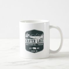 Crater Lake National Park Coffee Mug   #renegadelife #cars #motorcycles camping ideas, camping meals, camper camping, back to school, aesthetic wallpaper, y2k fashion