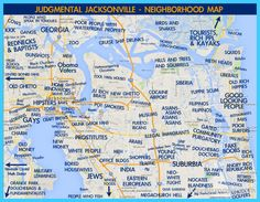 nice Map of Jacksonville Florida