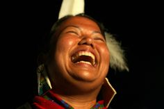 Powwow Smile | First Nations Woman Laughing | North Vancouver Squamish Band by dubesor