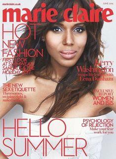 Kerry Washington - Marie Claire Magazine Cover [United Kingdom] (June 2015)