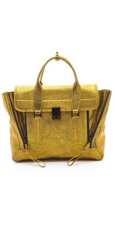 3.1 Phillip Lim Pashli Satchel in gold... #awesome (via @Shopbop)