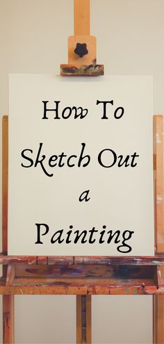 Learn what to do before you start a painting! How to make a sketch on your canvas before starting your painting. Oil Painting For Beginners, Acrylic Painting Techniques, Diy Painting, Beginner Painting On Canvas, Learn Painting, Matte Painting, Watercolor Techniques, Learn To Paint, Art Oil