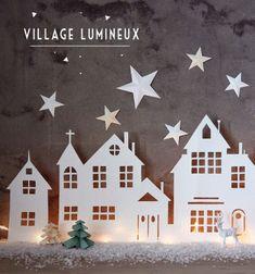 Néha a legegyszerűbb karácsonyi/ téli dekorációk a legszebbek és leghangulatosabbak ! Ez a téli papír város egyszerű fehér karton papírból / rajzlapból pillanatok alatt kivágható és egy kis háttér világítással varázslatos téli hangulatot vihetünk ...