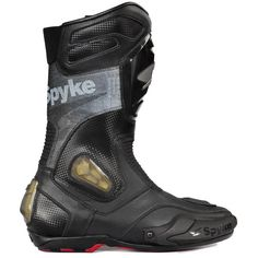 Spyke Rocker Leather #Motorcycle #Racing #Boots Motorcycle Leather, Motorcycle Boots, Bike Leathers, Motorbikes, Leather Boots, High Top Sneakers, Racing, Shoes, Style