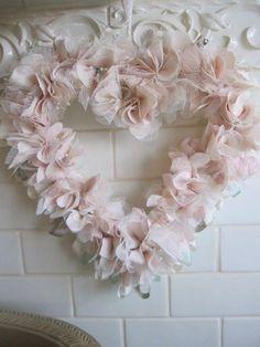 Organza flower heart