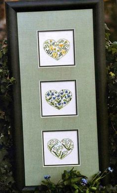 Lovely Hearts in a row. Each is a gem! Not a lot of time?. . . just make one.