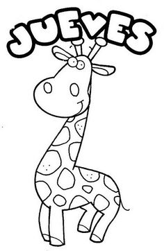 jueves Teaching Spanish, Art For Kids, Activities For Kids, Preschool, Symbols, Letters, Education, Giraffes, Homework