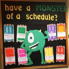 RA new semester bulletin board tips from Mike Wazowski