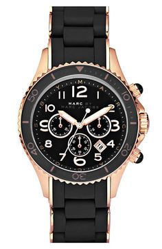 MARC BY MARC JACOBS 'Rock' Chronograph Silicone Bracelet Watch available at Nordstrom