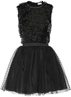 REDValentino Redvalentino Embellished Silk-Georgette and Point D'esprit Mini Dress : REDValentino Embellished silk-georgette and point d'esprit mini dress, REDValentino's romantic design ethos is reflected in this black mini dress. This piece has a paillette-embellished silk-georgette bodice and a point d'esprit skirt layered with organza for volume. Style yours with heels and a box clutch Size: 44. Gender: Female. Age Group: Adult.Daily designer fashion deals on sale on violashopping.com