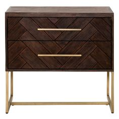 Orient Express Furniture - Mosaic Nightstand, Rustic Java - Nightstands and Bedside Tables Rustic Nightstand, 2 Drawer Nightstand, Nightstands, Dressers, Modern Rustic, Modern Classic, Wood And Metal, Solid Wood, At Home Furniture Store