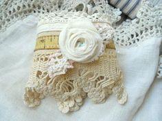 Vintage Fabric Cuff bracelet fabric