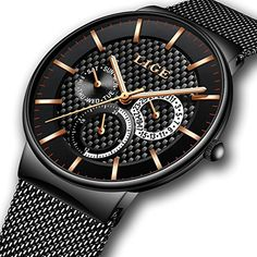 Watches Quartz Watches Methodical Watches Men Square Analog Quartz Watch Business Waterproof Luminous Stainless Steel Mesh Band Wrist Watches New Varieties Are Introduced One After Another