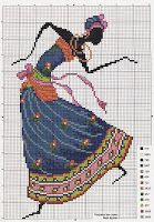 Вышивка крестом / Cross stitch : Люди