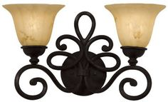 Amelie Bathroom Light by Kalco. $298.00. Description: Whimsy and wonder come together with fanciful Amelie. Antique Copper (AC), Bellagio (BG), Tawny Port (TP) or Tortoise Shell (TO) Finish Smoked Taupe Glass (1305), Waterfall Glass (1350), Tortoise Glass (1586) or Penshell (PS01) Shade The variations characteristic of Natural Penshell add to the unique beauty of these handmade shades & no two are identical Main picture shows Antique Copper Finish (Option # AC) with Tortoise ...