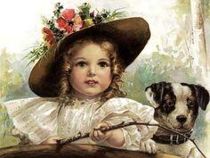 Girl and a dog