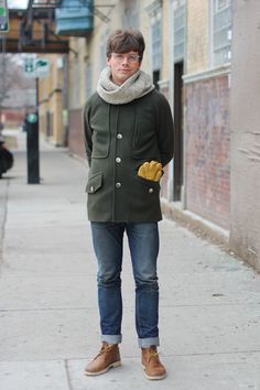 Christopher #chicago #streetstyle #menswear #winter #glasses #coat #gloves