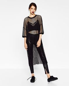 DRESS WITH FRILLED SKIRT-DRESSES-WOMAN | ZARA Sweden