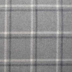Tartan Plaid Grey Wool Curtain And Upholstery Fabric