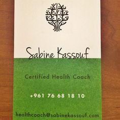 My New #Health #Coach Business Card