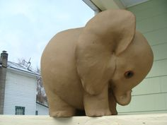 Freeman McFarlin Art Pottery Baby Elephant by WaverlyNY14892, $70.00