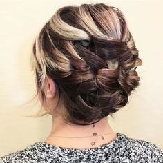 Updo love using small folds.  This is on short hair!